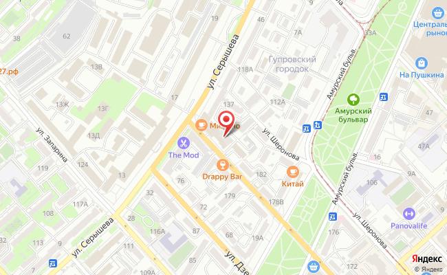 волочаевская 186 хабаровск на карте