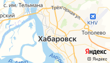 Гостиницы города Хабаровск на карте