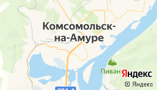 Гостиницы города Комсомольск-на-Амуре на карте