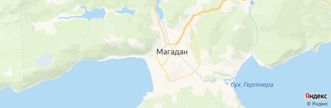 Магадан на карте