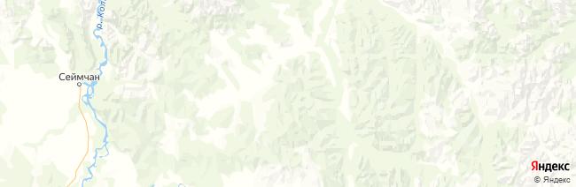Магаданская область на карте
