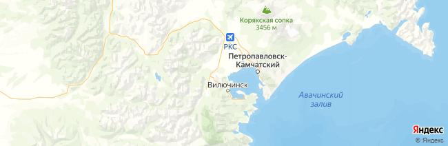 Камчатский край на карте