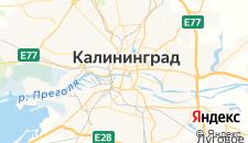 Гостиницы города Калининград на карте