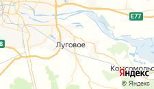 Гостиницы города Малое Луговое на карте