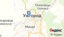 Гостиницы города Ужгород на карте