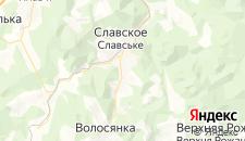 Гостиницы города Славское на карте