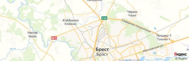 Брест на карте