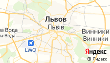 Гостиницы города Львов на карте