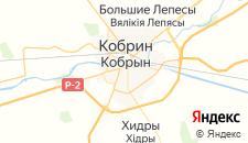 Гостиницы города Кобрин на карте
