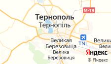 Гостиницы города Тернополь на карте