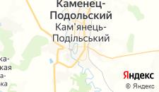 Гостиницы города Каменец-Подольский на карте