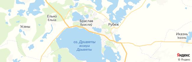 Браслав на карте
