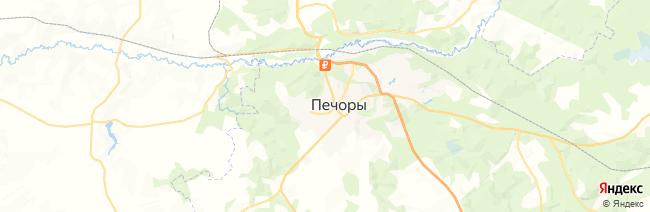 Печоры на карте