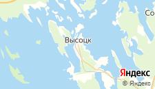 Гостиницы города Высоцк на карте