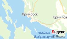 Гостиницы города Приморск на карте