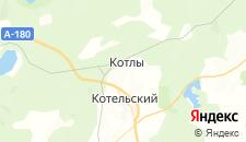 Гостиницы города Котлы на карте