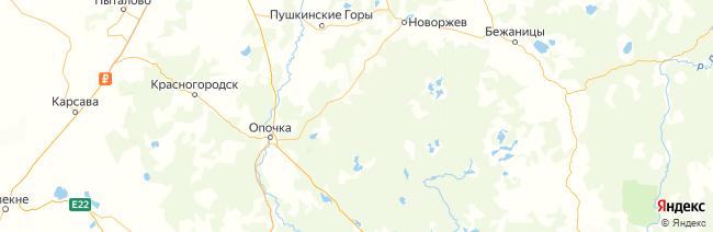 Псковская область на карте