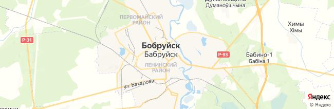 Бобруйск на карте