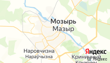 Гостиницы города Мозырь на карте