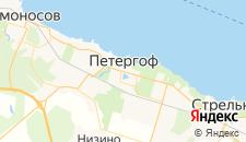 Гостиницы города Петергоф на карте