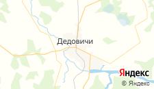 Гостиницы города Дедовичи на карте