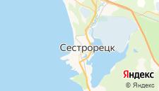 Гостиницы города Сестрорецк на карте