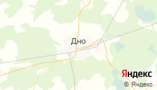 Гостиницы города Дно на карте