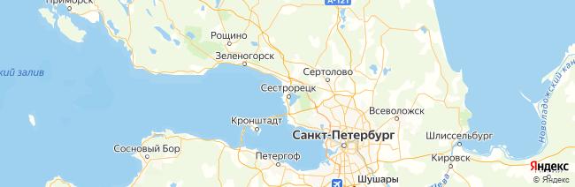 Ленинградская область на карте