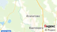 Гостиницы города Агалатово на карте