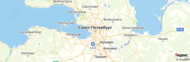 Санкт-Петербургский регион на карте