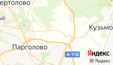Гостиницы города Порошкино на карте