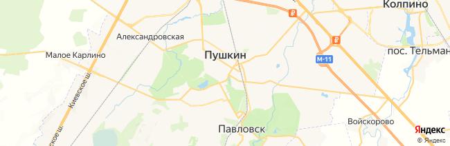 Пушкин (Царское Село) на карте