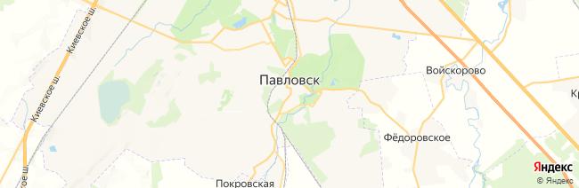 Павловск на карте