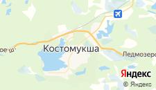 Гостиницы города Костомукша на карте