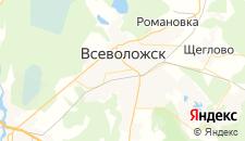 Гостиницы города Всеволожск на карте