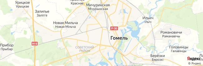 Гомель на карте