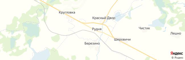 Рудня на карте
