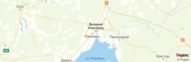 Новгородская область на карте
