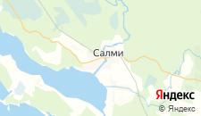 Гостиницы города Салми на карте