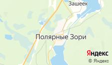 Гостиницы города Полярные Зори на карте