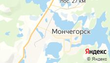 Гостиницы города Мончегорск на карте