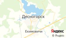 Гостиницы города Десногорск на карте