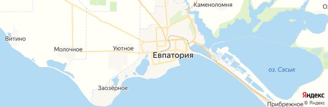 Евпатория на карте