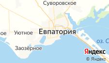 Гостиницы города Евпатория на карте
