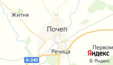 Гостиницы города Почеп на карте