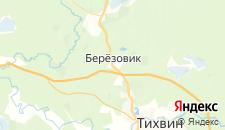 Гостиницы города Берёзовик на карте