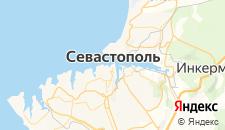 Гостиницы города Севастополь на карте