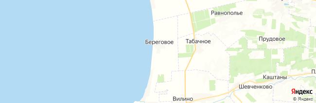 Береговое на карте