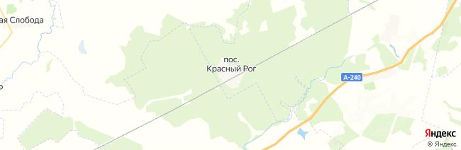 Красный Рог на карте