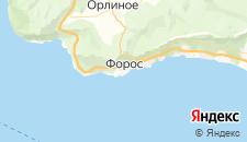 Гостиницы города Форос на карте